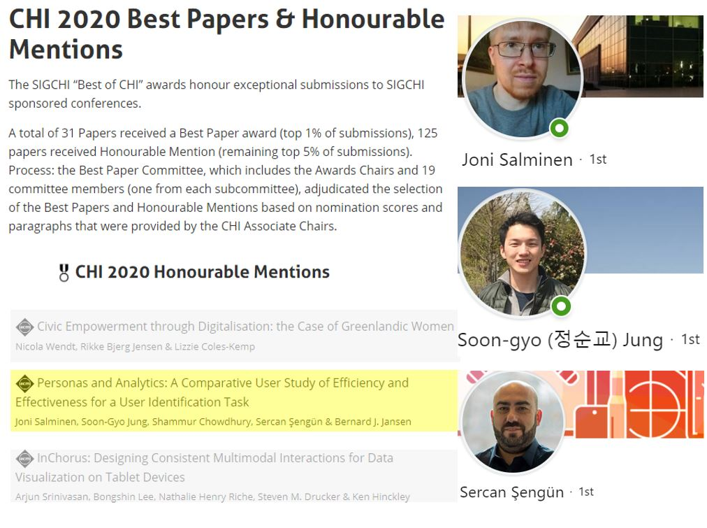 chi2002 paper award with three co-authors