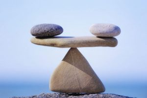 two rocks on a rock = stability